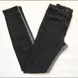 Black/grey 3x1 skinny jeans